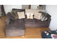 JOHN LEWISH BROWN SUEDE SOFA BED + STORAGE - VERY COMFY!! FREE DELIVERY