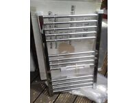 Brand new still in box c/heating &/or electric option small 700x450 chrome towel rail