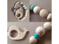 Mum and baby teething accessories