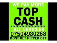 07504 930268 SELL YOUR CAR 4x4 FOR CASH BUY MY SCRAP COMMERCIAL Null