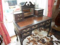 Edwardian Ebonized Desk/Dressing Table ideal for up-cycling including 750ml of Rustoleum White Paint