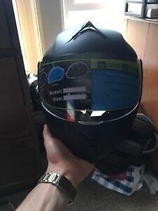 ILM Motorcycle Dual Visor Flip up Full Face Helmet Size M