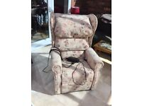 Electric recliner chair, almost new.