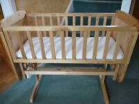 Mothercare Swing crib with Mattress AS NEW