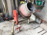 Pierce PTO driven cement mixer