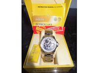 INVICTA Angel Women's Quartz Watch with Chronograph Display and Plated Stainless Steel Bracelet/New