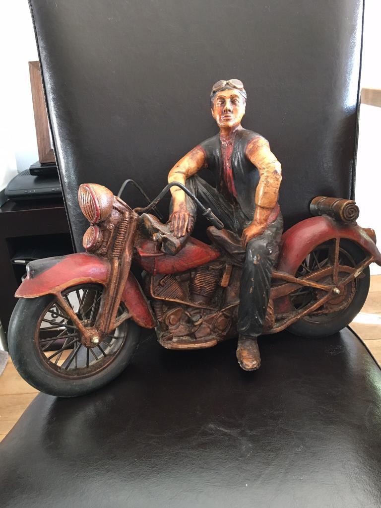 Harley Davidson Resin & Metal Rider & Motorbike