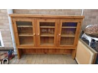 Pine Display Dresser/Cabinet - Glass Fronted