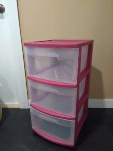 Plastic 3 Drawer Storage Container