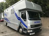2001 DAF TRUCKS FA LF45.150 HORSEBOX LORRY 7.5 TONN 3 HORSE STUNNING 12 MOT P/X