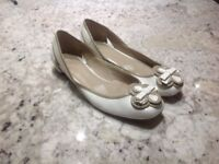 M&S PATENT FLAT SHOES UK 7 WORN ONCE