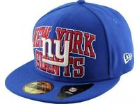 New York Giants Logo Stack 59FIFTY Fitted NFL Cap