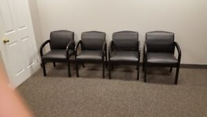 Waiting room chairs- leather