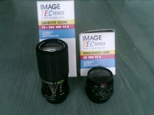 New In Box Image Tec Series Camera Lenses For Minolta