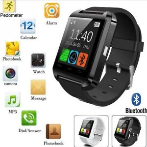 Smart Watch Bluetooth Watch Phone blue and black color