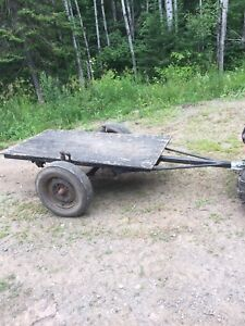 Small Flat Deck Tilt Trailer