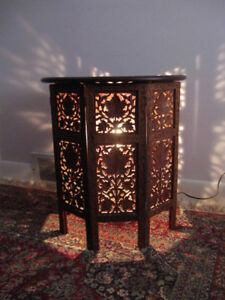 Rare antique carved coffee table set