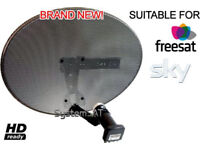 SKY DISH INSTALLATION FROM £50 SATELLITE ALIGNMENT FROM £25 TV MOUNT ON WALL TV AERIAL REPAIRS