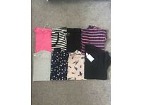 Bundle of t-shirts all size 10 including H&M, Next, New Look and River Island, one still with tags