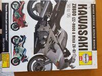 Kawasaki zx600 / zzr600 haynes manual 1990 - 06