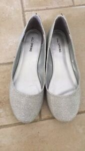 Sparkly Silver Women's Flats