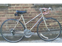 Vintage racing ladies bike PEUGEOT hand built frame size 20in - 5 speed NEW TYRES , brakes ,serviced