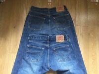 Mens Levi Jeans x 2