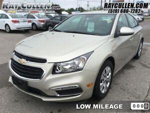 2015 Chevrolet Cruze 1LT  - Bluetooth -  SiriusXM - Low Mileage