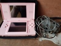 Nintendo DS pink and 4 games