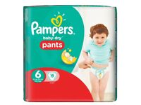 Baby Kids Toiletries Bundle Pampers Nappies Pants Johnson's Baby Lotion and Bedtime Powder - NEW
