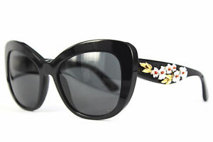 Dolce and Gabbana Womens Sunglasses Floral Black LMT Edition D&G