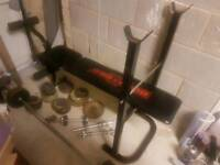 Weights workout bench