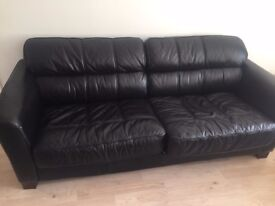 3 seat leather sofa good condition