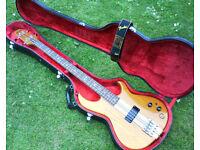 Aria SB-R60 bass guitar and original Aria case. 80s Matsumoku.