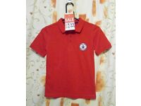 Boys Gola GST7328 Polo Shirt. Red. Age 6-7yrs