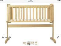 Like new mothercare wooden crib and mattress