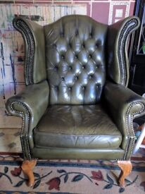 2 x Wingback armchairs