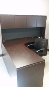 Selling an L-Shaped Wood Office Desk and Office Chair