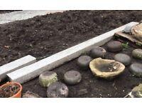 3 Solid Granite Garden Edging Beams