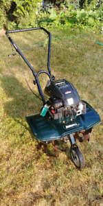 Strong front tine rototiller. Lightly used. -