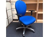 Orange ops office chair- adjustable arms