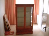 Yew display cabinet (Bought from Arthur Llewellyn Jenkins)