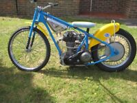 Rare 500 cc Speedway JAP owned by the late Bob Jones. Built by Alf Hagon
