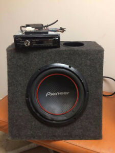 sub woofer and power amp
