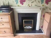Complete Fire Surround Electric Fire Plinth and Hearth
