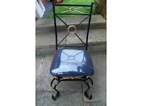 wrought iron decorative chairs