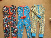 Three childrens onesies - age 5-6, height 110-116cm