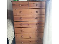 Wooden chest or drawer