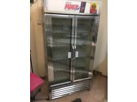 Double Retail/ catering glass front Fridge - with glass front