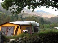 Caravan awning for a 12 foot caravan
